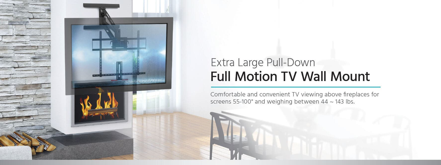 Monoprice Above Fireplace Pull Down Full Motion