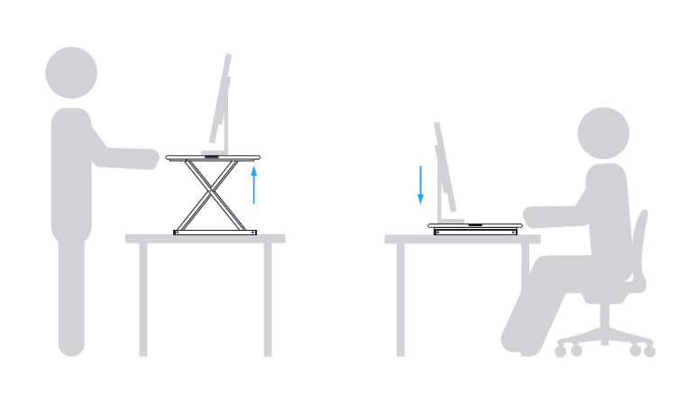 Sit-Stand Table Desk Converter