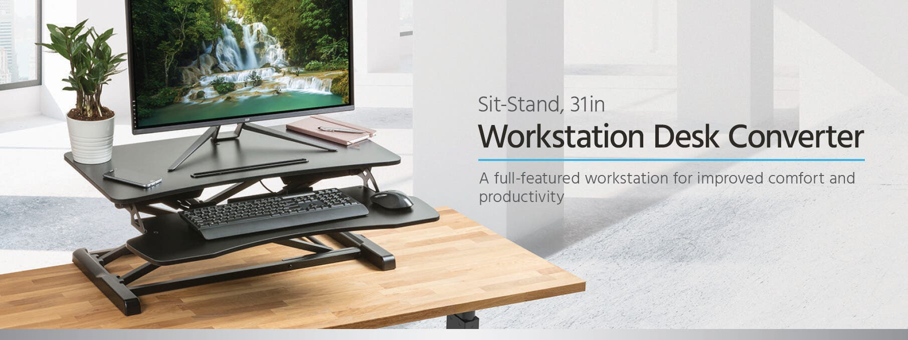 Workstream By Monoprice Sit Stand Compact Workstation Desk Converter Wiring Harness Workstations