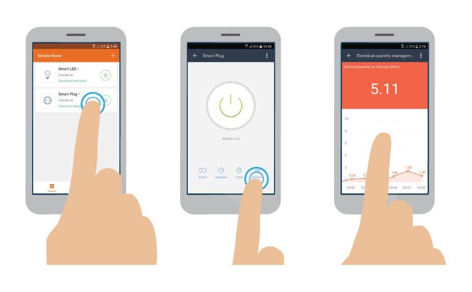 STITCH by Monoprice Wireless Smart Plug with Energy Monitoring