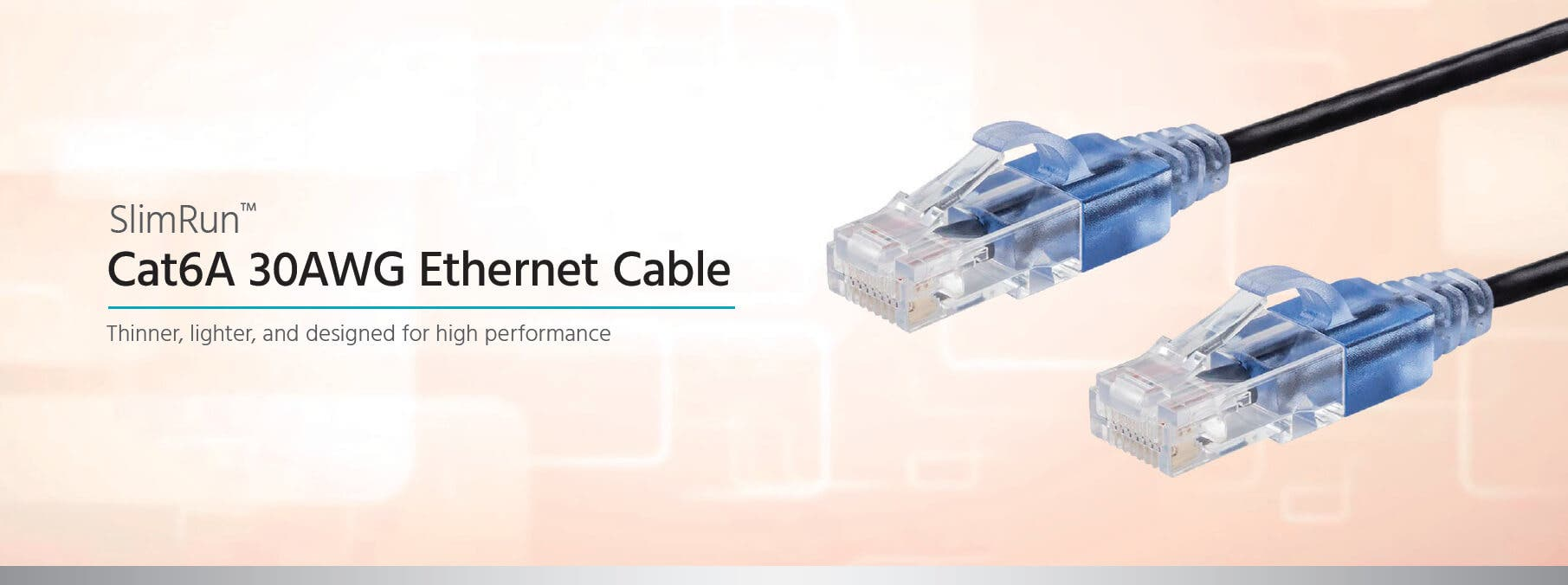 SlimRun Cat6A 30AWG Ethernet Cable