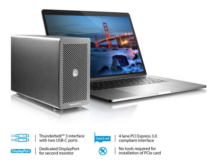 Akitio Node Lite Thunderbolt 3 PCIe Expansion Chassis