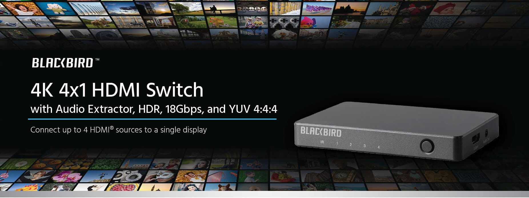 4K 4x1 HDMI Switch