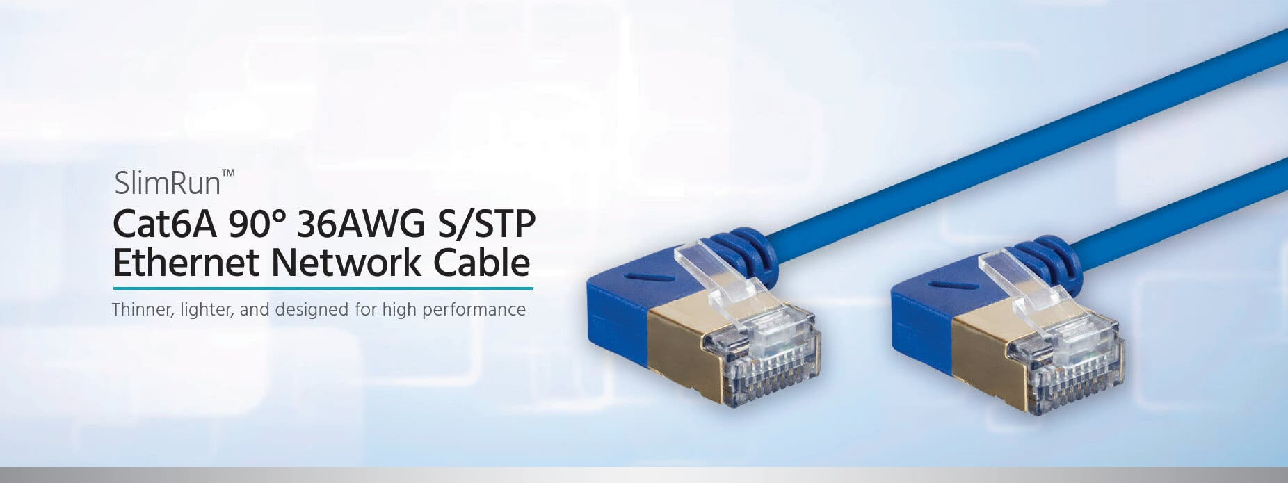 monoprice slimrun™ cat6a s/stp ethernet network patch cables are designed  for high performance 10g environments  slimrun cat6a s/stp is much thinner  and