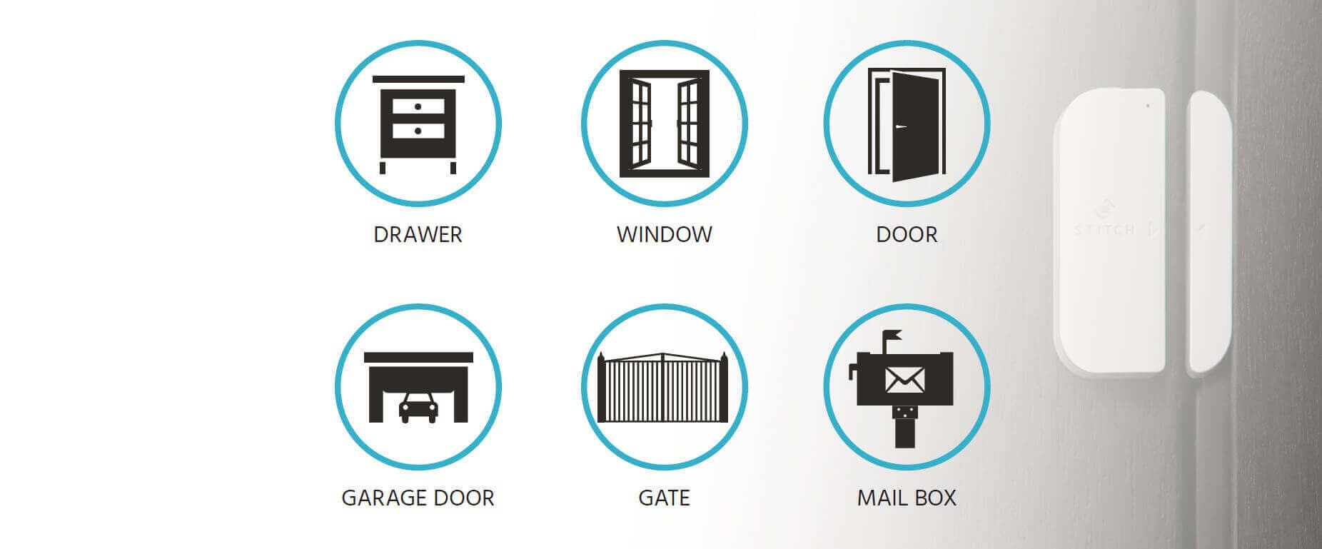 STITCH by Monoprice Wireless Smart Door/Window Sensor