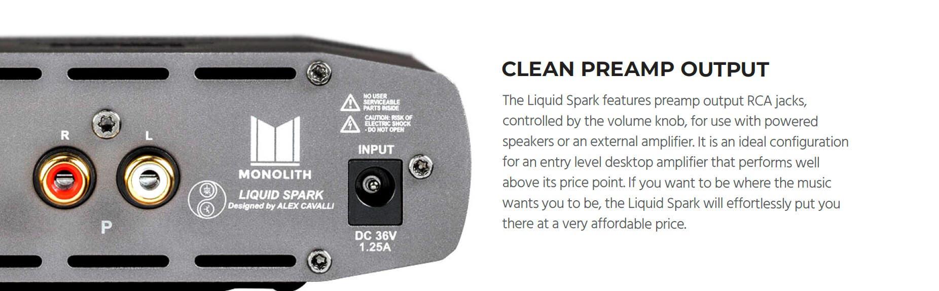 Monolith by Monoprice Liquid Spark Headphone Amplifier by Alex