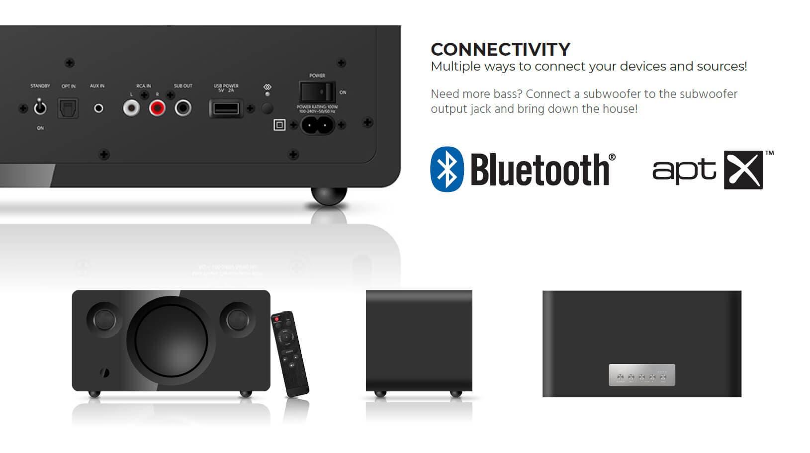 Monoprice Soundstage3 120 Watt True Wireless Stereo (TWS) Bluetooth