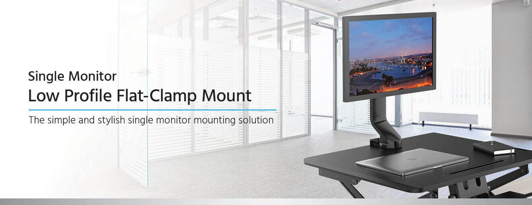 Low Profile Flat-Clamp Mount