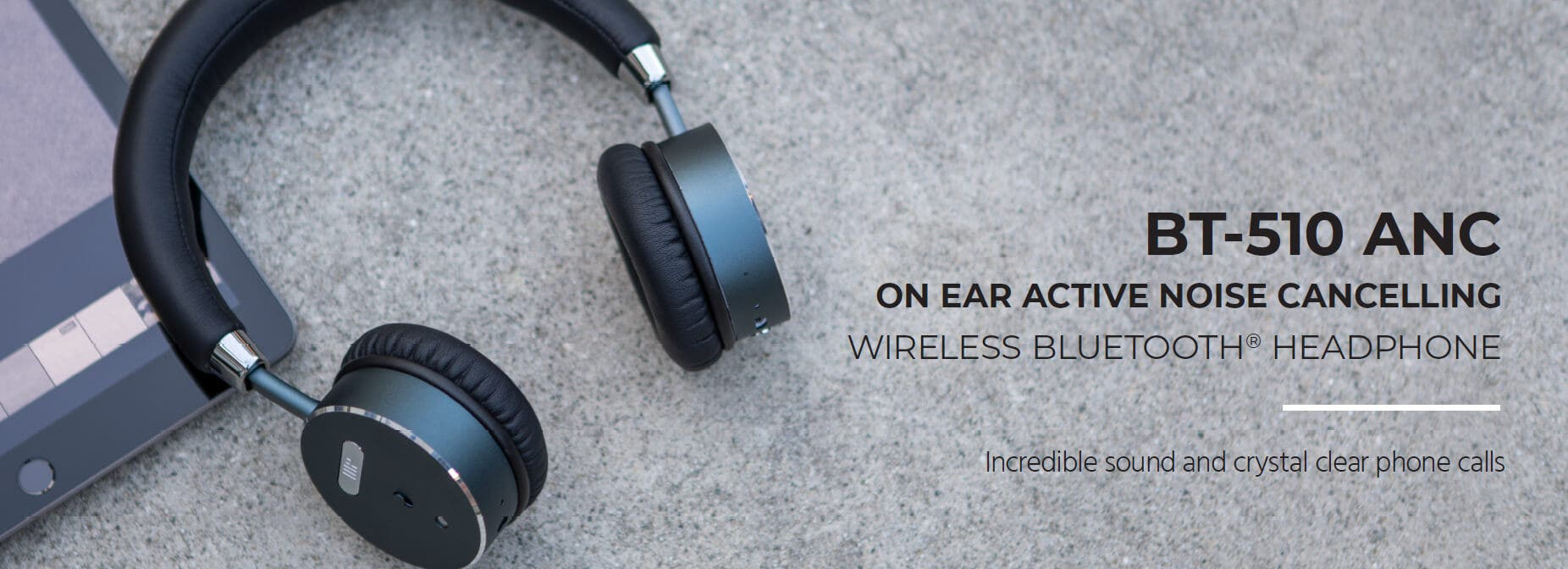 Monoprice BT-510ANC On Ear Active Noise Cancelling (ANC) Wireless