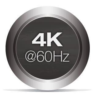 Unterstützt 4K@60Hz