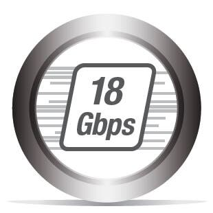 Bande Passante jusqu'à 18 Gb/s