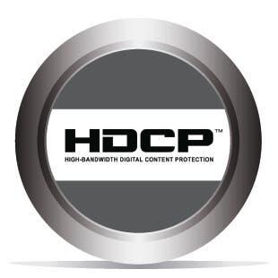Conforme au format HDCP 2.2