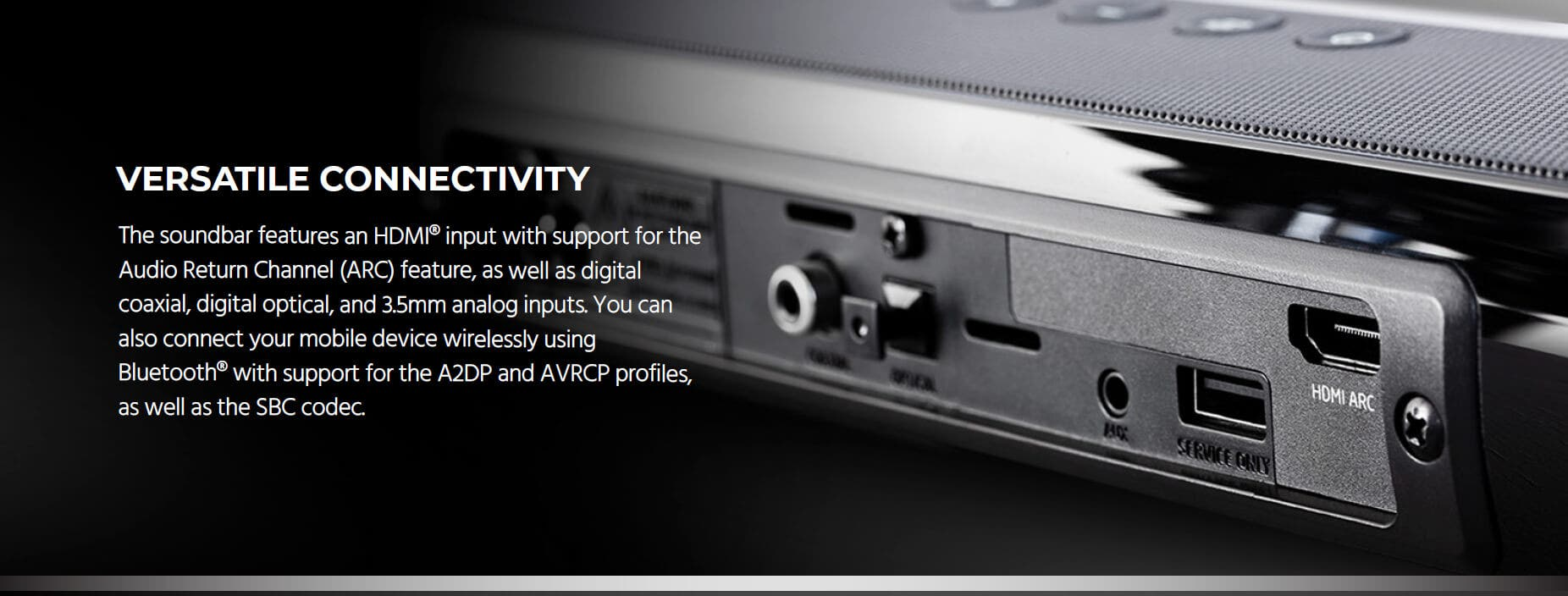 Monoprice SB-200 Premium Slim Soundbar with HDMI ARC