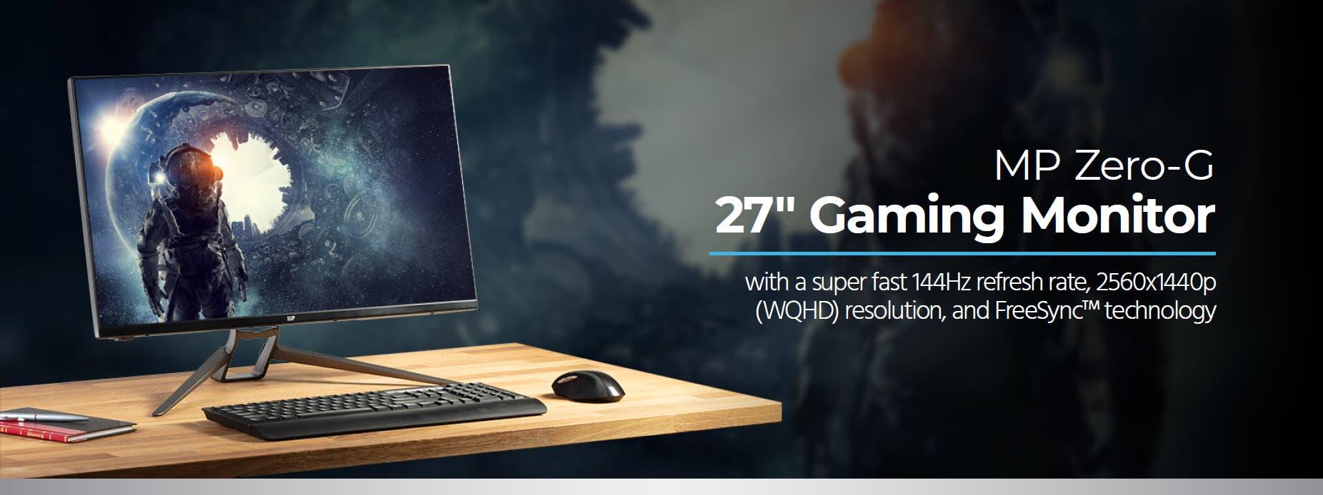Monoprice MP 27in Zero-G Gaming Monitor - 1440p, 144Hz, 1ms