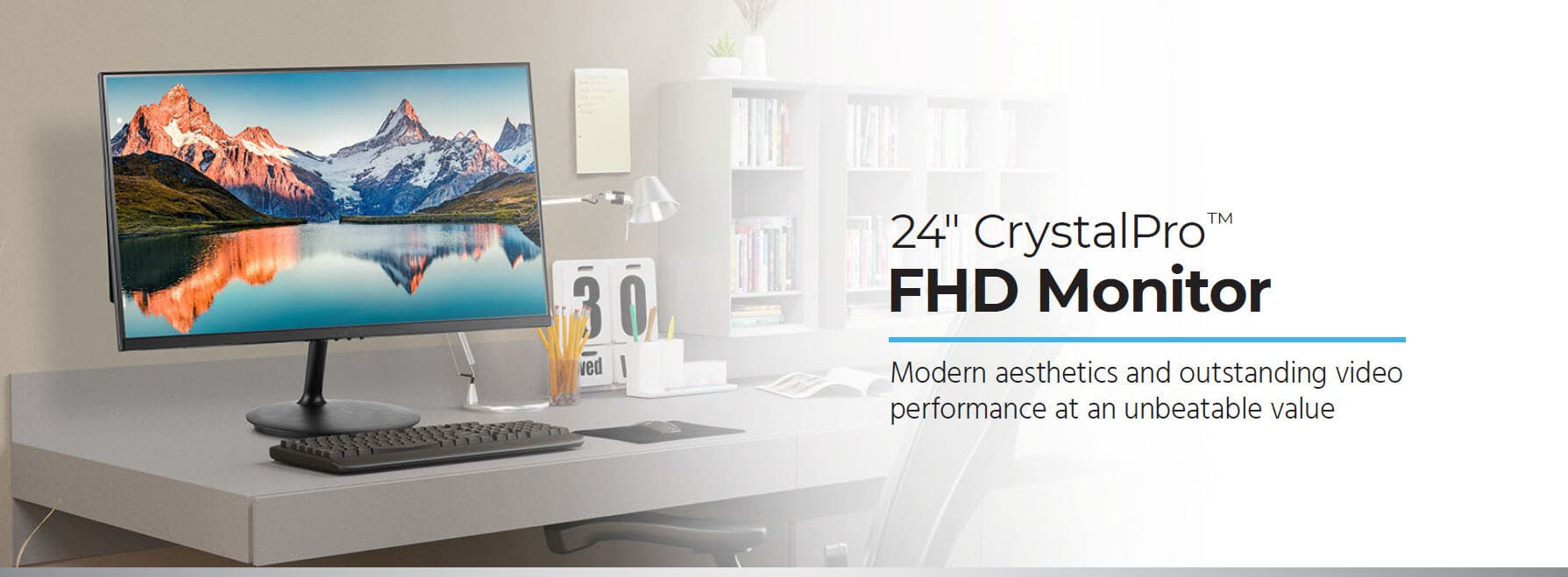 27in CrystalPro FHD Monitor