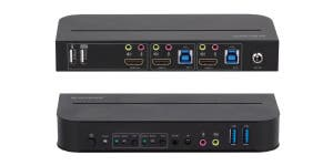 4K HDMI 2.0 2x1 USB 3.0 KVM Switch
