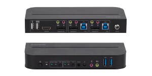 4K DisplayPort 2.0 2x1 USB 3.0 KVM Switch