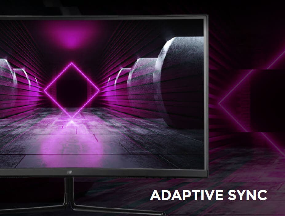 ADAPTIVE SYNC. Adaptive Sync technology puts an end to choppy gameplay and broken frame rates with fluid, artifact-free performance at virtually any framerate, including this monitor at its 144Hz native refresh rate.