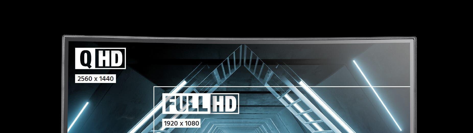2560x1440 (QHD) RESOLUTION.