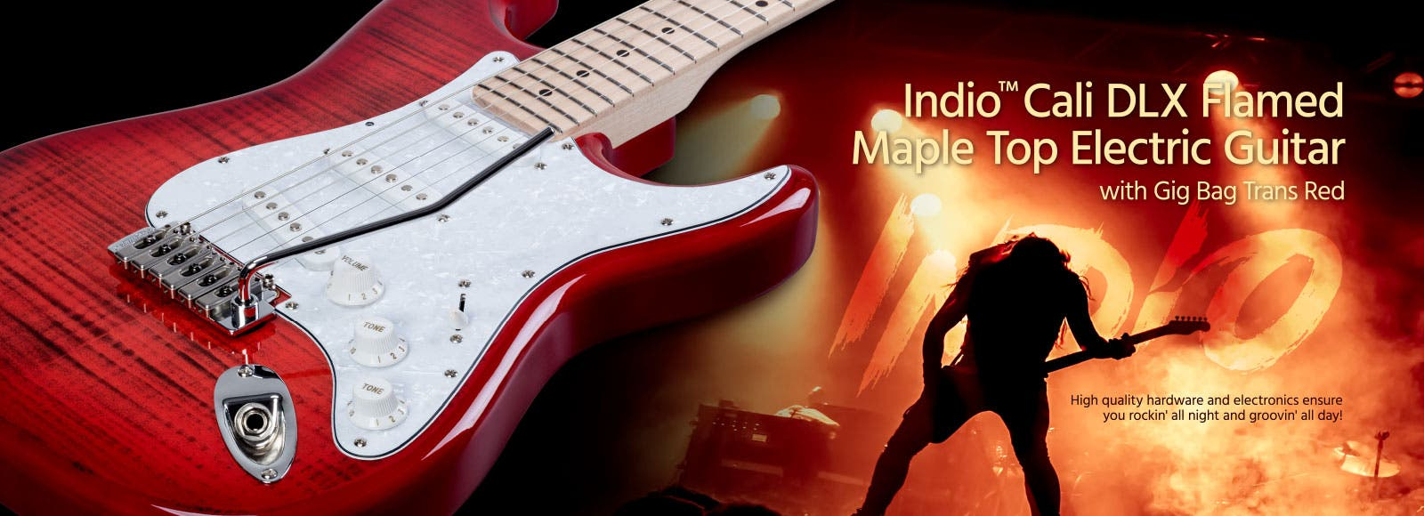 Indio Cali DLX Flamed Maple Top Electric Guitar