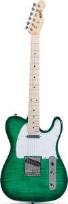 Indio Retro DLX Flamed Maple Top Electric Guitar