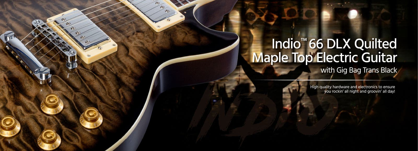 Indio 66 DLX Quilted Maple Top Electric Guitar