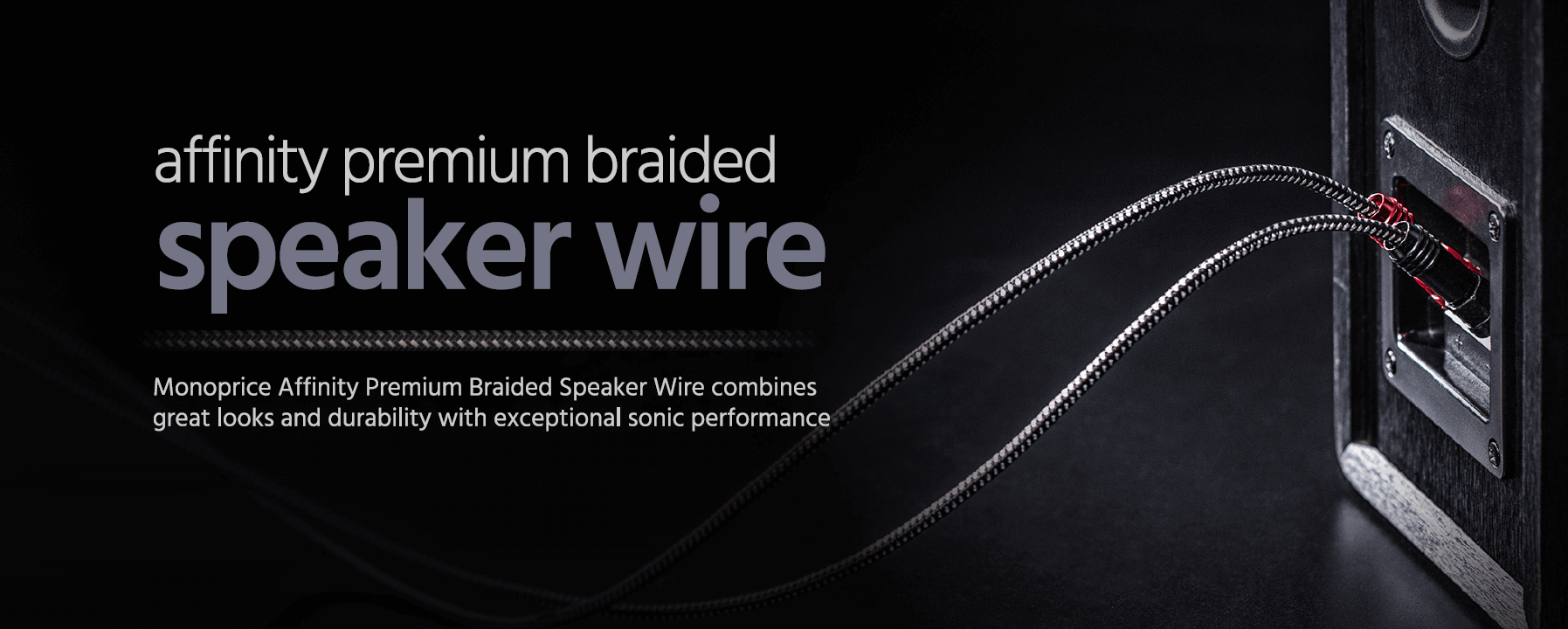 Monoprice Affinity Premium 14AWG Braided Speaker Wire with