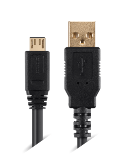 Micro B USB Cables with Ferrite Core